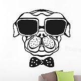 Bulldog Vinilo Adhesivo de Pared Sala de Estar Nudo calcomanía de Pared niños habitación decoración Papel Pintado 50X72cm