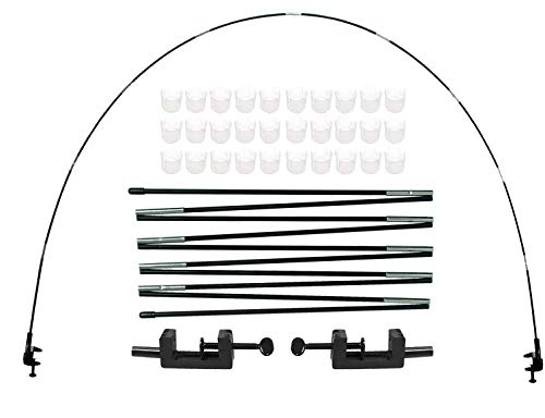 LANGXUN 12ft Table Balloon Arch Kit For Birthday Decorations, Party ,Wedding and Graduation Decorations, Christmas Decorations Baby Shower Bachelor Party Supplies (BLACK)