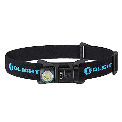 Bundle: Olight H1R Cree XM-l2 LED 600 Lumen Rechargeable Headlamp Flashlight, 5 Brightness Level with SOS Mode, EDC Camping Lightweight with RCR123A Battery Olight Patch (NW))