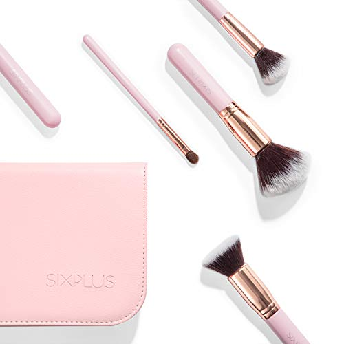 SIXPLUSメイクブラシ11本セット化粧ポーチ付き(ピンク)
