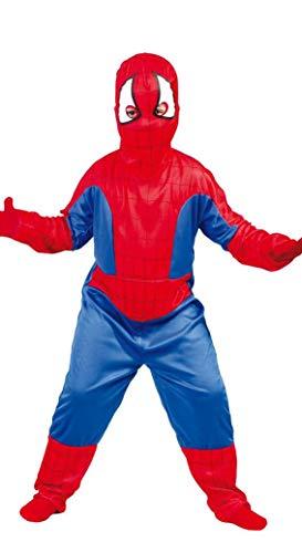 Spinnen Kind Superheld Kinderkostüm Spinne Karneval Fasching Kostüm Gr. 98 - 146, Größe:110/116