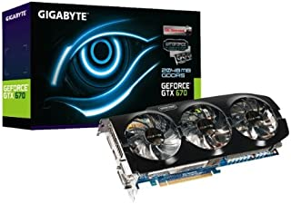 GIGABYTE グラフィックボード NVIDIA GeForce GTX670 2GB OC PCI-E WINDFORCE3X GV-N670OC-2GD
