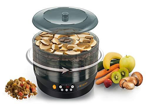 MACOM Just Kitchen 826 Roto Dry Plus Essiccatore per Alimenti Rotante, 500 watt, Nero
