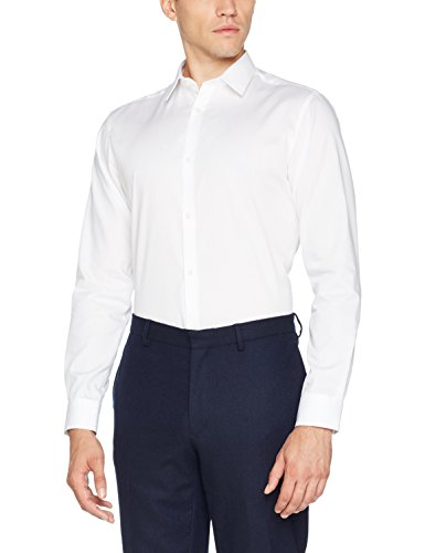 JACK & JONES Herren JPRNON Iron Shirt L/S NOOS Businesshemd, Weiß (White Fit:Slim Fit), Medium
