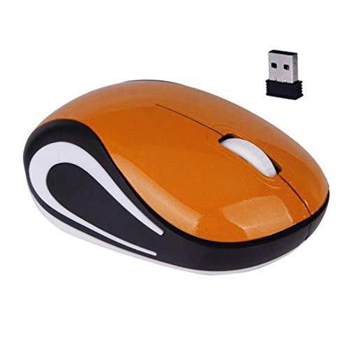 Computer Mouse, Portable PC Notebook 800/1200DPI USB 3 Keys Optical 2.4G Mini Wireless Gaming Mouse - Orange