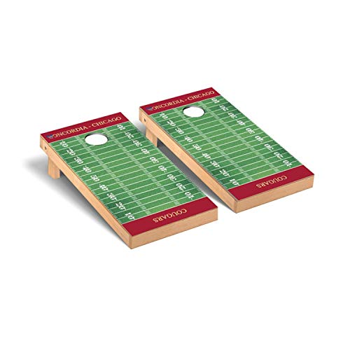 Victory Tailgate Concordia Chicago Cougars Regulation Cornhole Game Set Football Field Version