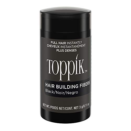 Toppik Hair Building Fibers, Black, 0.11 oz