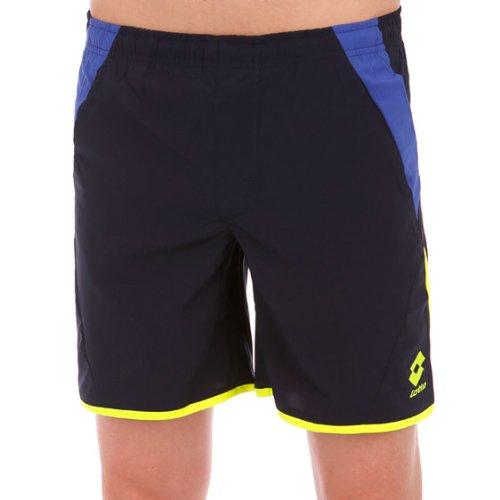 Lotto Sport, Pantaloni Corti Uomo Matrix, Blu (Navy/Shiver), L