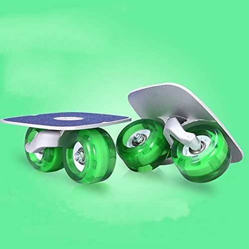 LJKD Tabla de Deriva patineta para Principiantes Tabla Grande para niños patineta para Adultos patineta Dividida en Cuatro Ruedas Rueda Universal vitalidad,Verde