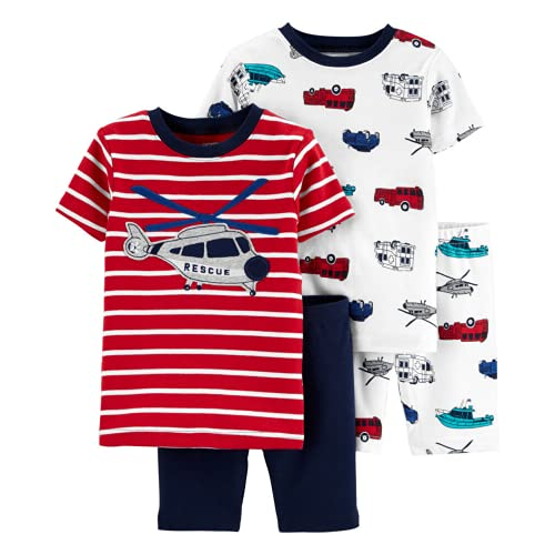 Carter's 4-Piece Toddler and Baby Boy's Sung fit Cotton Pajamas