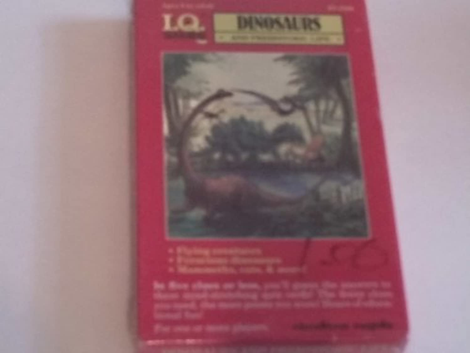 I.Q. Games Dinosaurs and Prehistoric Life Quiz Card Game by I. Q. Games
