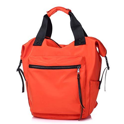 OIJSGP Damenrucksack wasserdichte Rucksack-Frauen-hohe Kapazitäts-Reise-Buch-Taschen für Teenager-Studenten Pink Satchel, Oranger