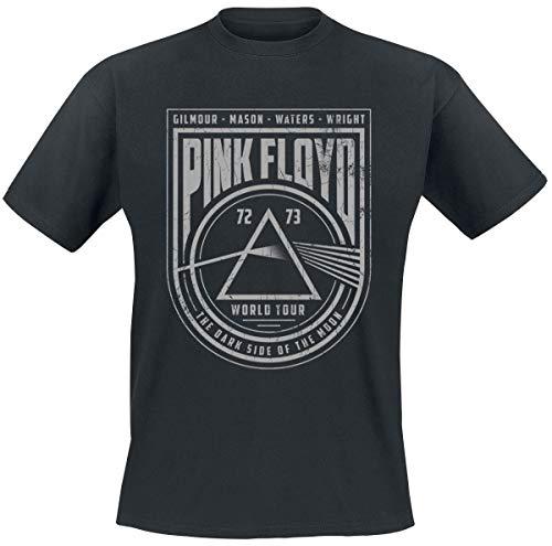 Pink Floyd World Tour Hombre Camiseta Negro L, 100% algodón, Regular
