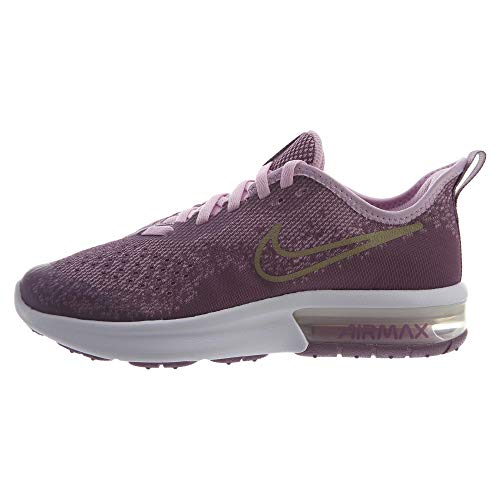 Nike Air Max Sequent 4 Running Shoe Violet Dust/Metallic Gold Star Size 5.5 M US