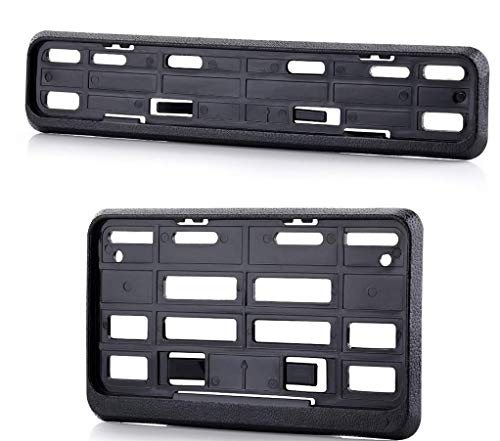 Mythic Black Bike Front & Back Number Plate Frame (Standard Size for All Bikes) - Set of Two
