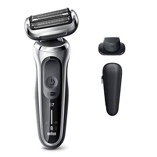 Braun Electric Razor for Men, Series 7 7020s 360 Flex Head Electric Shaver with Precision Trimmer, Rechargeable, Wet & Dry and Travel Case