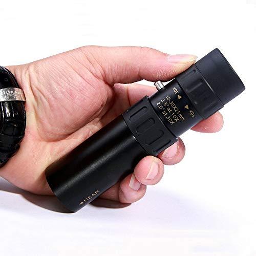 Hengyuanyi Originele Monoculaire, Telescoop Pocket Jacht Verrekijker Scope Prisma Optisch voor Vogels Kijken Jagen Camping Wandelen Reizen Wildlife Secenery - 10-30x25 Zoom