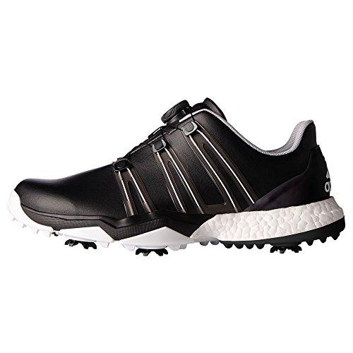 adidas Adidas Herren Powerband Boa Boost WD Golf Schuhe, Schwarz (Core Black/core Black/white), 44 2/3 EU