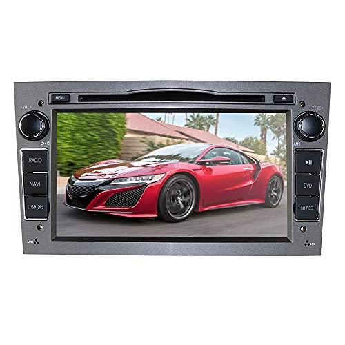 Autoradio doppio din con touch screen capacitivo da 7 pollici, lettore DVD audio per auto in Dash Stereo adatto per Opel Antara/Astra H/Combo/Vectra C Supporto Mirror-link Bluetooth GPS (grigio)