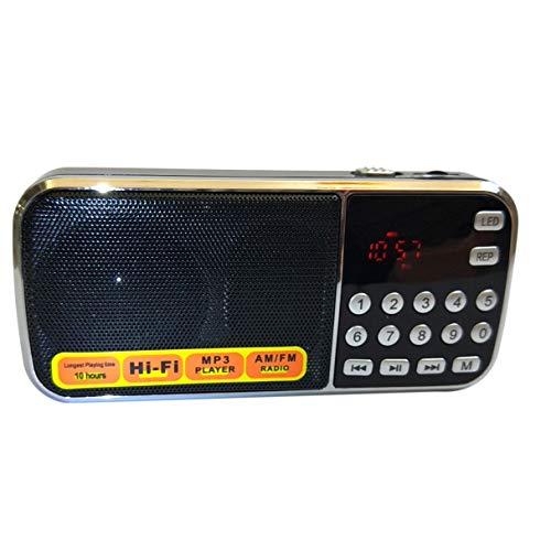 Viudecce L-088AM Doble Banda Recargable PortáTil Bolsillo Digital Auto Scan Receptor de Radio Am FM con Reproductor de Audio MP3 Altavoz
