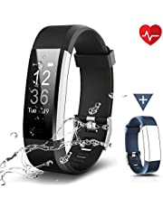 Chereeki Fitnessarmband, LATEC fitnesstracker horloge met hartslagmeter, waterdicht IP67, activiteitstracker, polshorloge, bluetooth, smart-polshorloge, stappenteller met slaapmonitor, calorieënteller, oproepen, sms-berichten