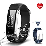 CHEREEKI Fitness Tracker Impermeabile IP67, Cardiofrequenzimetro Activity Tracker Braccialetto...