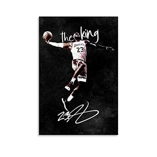 TINGTAI Hangtime Lebron James - Poster da basket classico da basket con stampa artistica su tela, per soggiorno, camera da letto, 40 x 60 cm