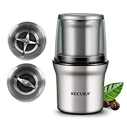 Secura Electric Coffee Grinder and Spice Grinder