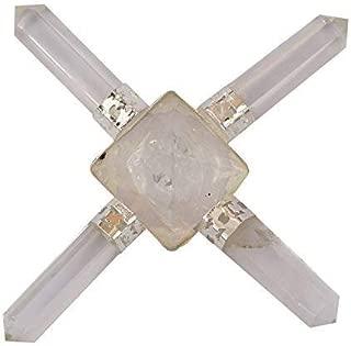 5Elements Reiki Healing Natural Gemstone Quartz Massage Crystal w/ 4 Conical Points Pencil Divine Spiritual Meditation Yoga Energy Peace Chakra Aura Balance Generator-Sacred Gift Home Decor