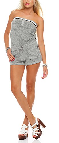 Nike Solid Terry Cover Up One-Piece Damen Playsuit, Romper Farbe: Grau; Größe: XS