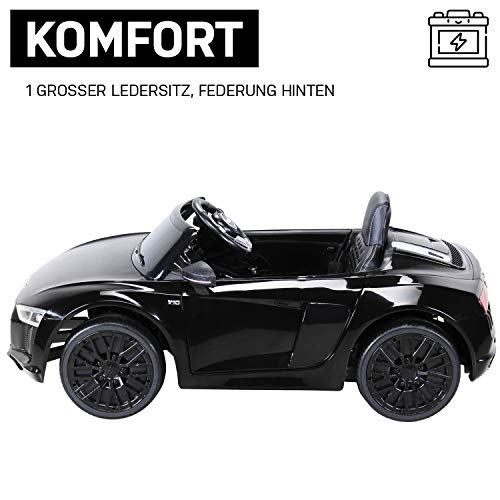 RC Auto kaufen Kinderauto Bild 4: Kinder Elektroauto Audi R8 Spyder Modell 2017 NEU Lizenziert Original Kinderelektroauto Kinderfahrzeug Auto (Schwarz)*