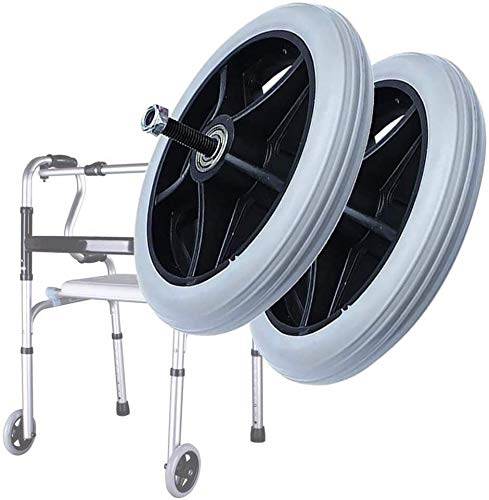 MEEY 2ST 6 Zoll Grau Rollstuhl vorderes Lenkrad Ersatzteile for viele Standard-Rollstühle Rollator 140x20mm