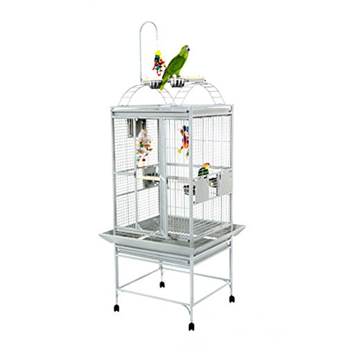 A&E Cage 8002422 White Play Top Bird Cage with 5/8' Bar Spacing, 24' x 22'