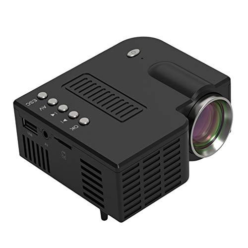 Mini proyector de cine en casa, mini proyector de películas portátil con 20.000 horas de vida de lámpara LED, Full HD 1080P, compatible con TV PS4, HDMI, VGA, TF, AV y USB, negro