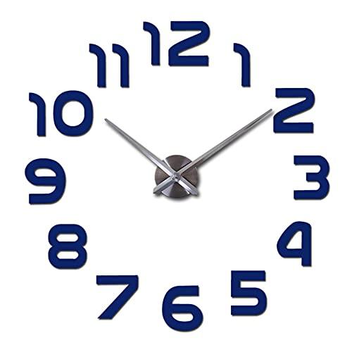 Reloj de Pared DIY,Nuevo Reloj de Pared Grande de Cuarzo de Moda con Espejo Acrílico de Bricolaje,Sala de Estar Decoración del Hogar Pegatinas Relojes de Pared