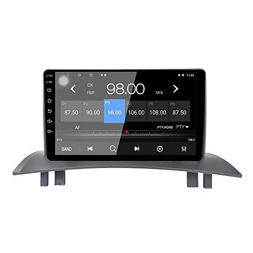 LEXXSON Autoradio Android 10.1 per Renault Megane 2 2004-2018 | Radio AM FM RDS da 9 pollici con navigazione GPS Wifi Bluetooth Lettore USB Controllo del volante Collegamento dello specchio 2G + 16G