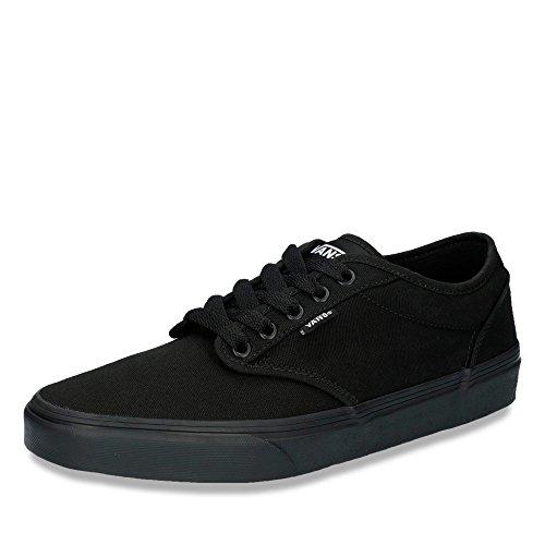 Vans Men Low-Top Sneakers, Black (Black/Black Canvas), US:10