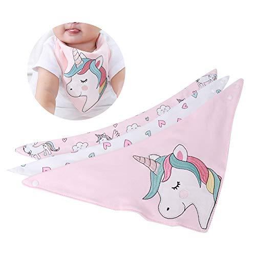 3 piezas de baberos para bebés, toalla de saliva de algodón para bebés, babero suave y absorbente, resistente a las manchas y los olores, lavable para niños y niñas recién nacidos