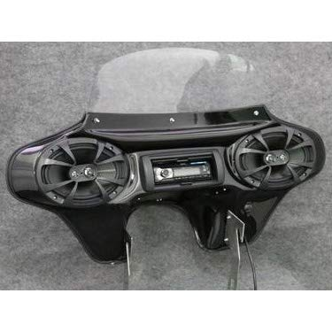 """TKY Classic Batwing Fairing, Stereo, 6""""x9"""" Speakers for Harley-Davidson Roadking"""