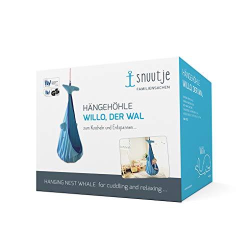 snuutje Hängehöhle für Kinder Willo der Wal (Schadstoff geprüft und GS-Zertifiziert, aus 100% Baumwolle, hält bis 80 kg, mit Zubehör) blau - 5