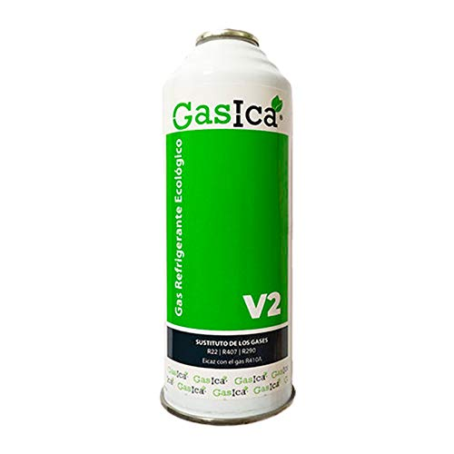 Todoelectrico - Gas Refrigerante Ecológico Gasica V2 255gr SUSTITUTO R22,R407c EFICAZ R410a, para Aire Acondicionado, Gas para Aire Acondicionado