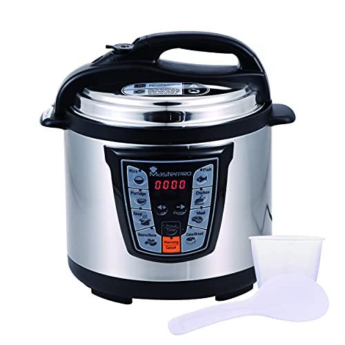 Masterpro Foodies - Olla a Presión Eléctrica con Capacidad 6L, Programable 24h, 8 Funciones,...