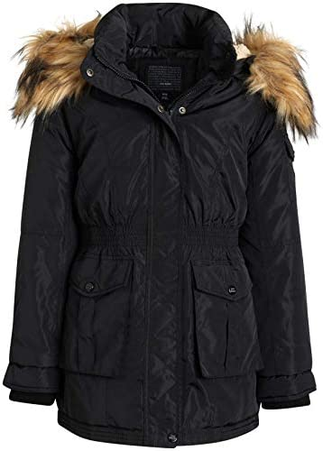 Steve Madden Girls Winter Coat Anorak Puffer Parka Jacket with Fur Trim Hood product image
