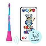 Playbrush, un cepillo de dientes inteligente para niños con aplicaciones para aprender a cepillar los dientes, color rosa
