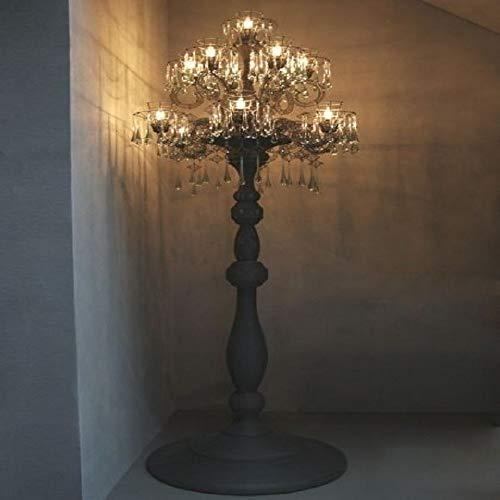 SVHK Lámpara de pie moderna, lámpara de pie led, lámpara de pie de madera tallada a mano, creatividad retro e14 sala de estar decoración accesorios de iluminación 15-luz para leer sala de estar dormit