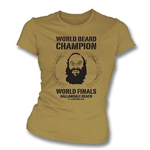 TshirtGrill Welt, Bart Champion Mädchen Slimfit T-Shirt klein, Farbe Hellbraun
