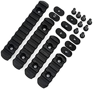 EEBUYTRONICS 4pcsrail DL Supply Advanced Tactical Polymer Rail Sections Set for MOE Hand Guards Black