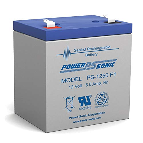 Powersonic NEW! 12V 5AH Alarm Security Fire System Battery 12Volt 5Amp Hour Sealed Lead