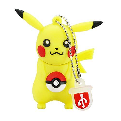 Clé USB Pen Drive Flash USB 2.0 Pokémon Rôle Série U Disque créatif clé chaîne Portable Haute Vitesse Transmission de données (8GB,Pikachu?4?)