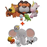SplashEZ MoldFree Bath Toys, 10 Pack Animal for Babies 1M+ and Toddlers, No Holes Bath Toys, Non Squirting Bath Toys for Tub, Beach, Pool, BPA-Free, Dishwasher-Safe, Infant Bathtub Toys Learn n' Play